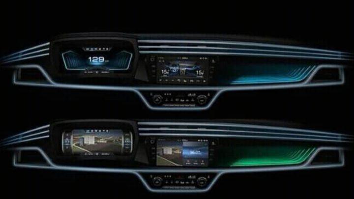 Der neue SsangYong Korando verfügt über ein modernes Interieur mit einem virtuellen Cockpit.