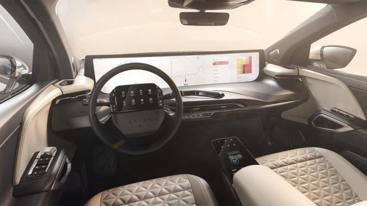 Im Innenraum eines chinesischen Elektrofahrzeugs wird es viele Displays geben.