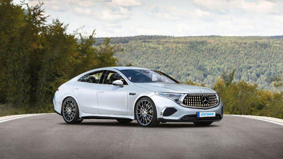 Mercedes-Benz EQS wurde während des Tests gedreht.