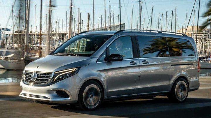 Die Mercedes-Benz EQV-Baureihe wird in Frankfurt vorgestellt.