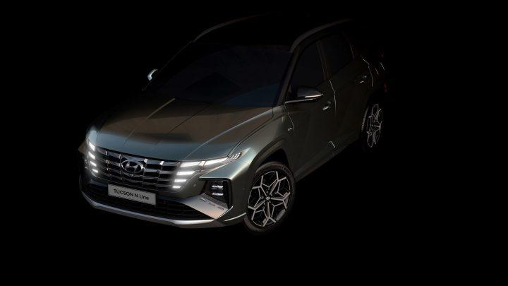 Hyundai enthüllt erste Tucson N-Line-Fotos.