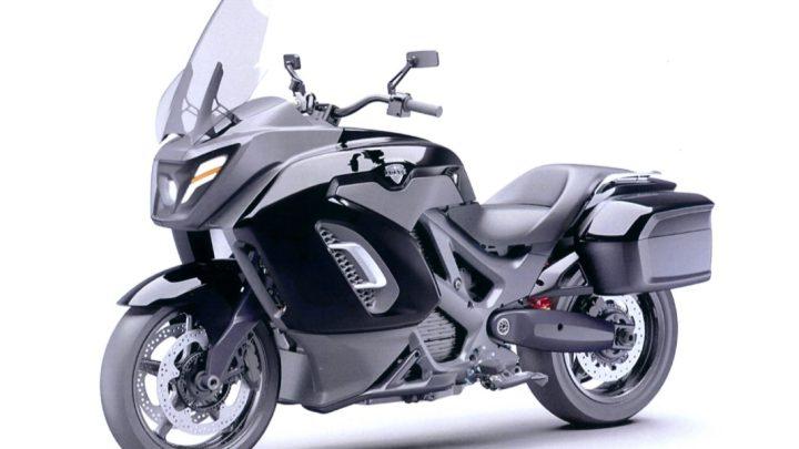 Das russische Begleitmotorrad heißt Merlon.  Er ist elektrisch und hat eine Leistung von 190 PS.