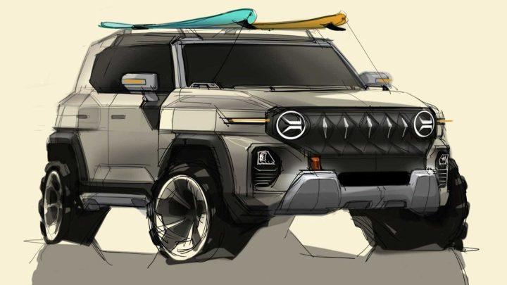 SsangYong hat Skizzen eines neuen Fahrzeugs enthüllt, das dem legendären Jeep ähnelt.