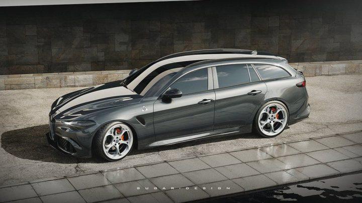 So könnte der Alfa Romeo Giulia Shooting Brake Kombi aussehen.